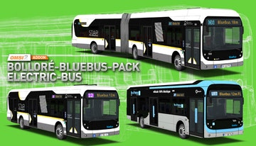 OMSI 2 Add-on Bolleré-Bluebus-Pack Electric-Bus