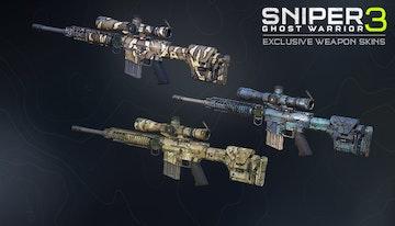 Sniper Ghost Warrior 3 – Hexagon Ice weapon skin pack